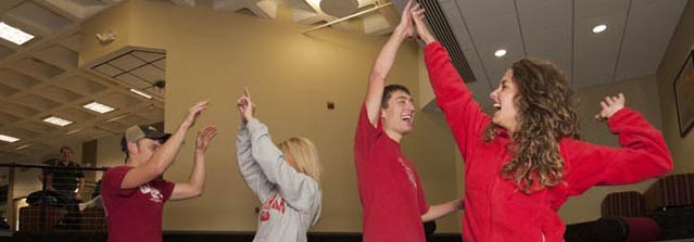 Students at the Power of Red open house