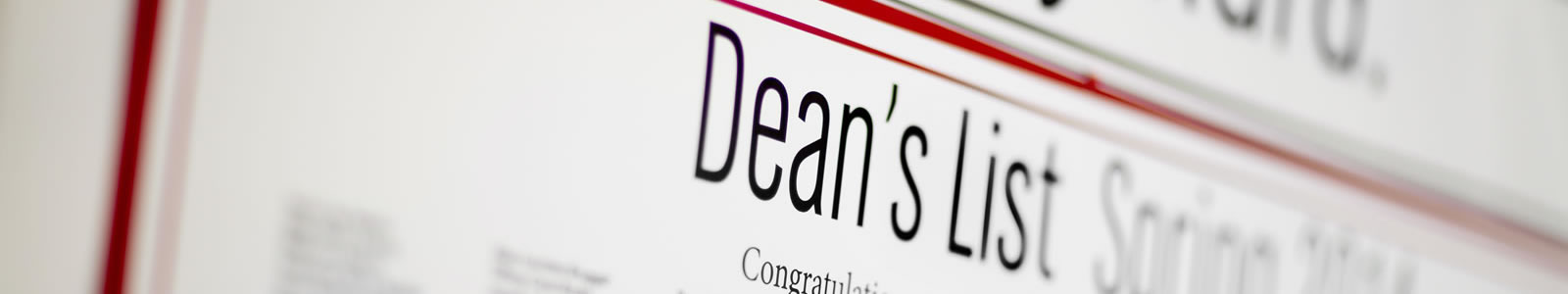 deans list page header