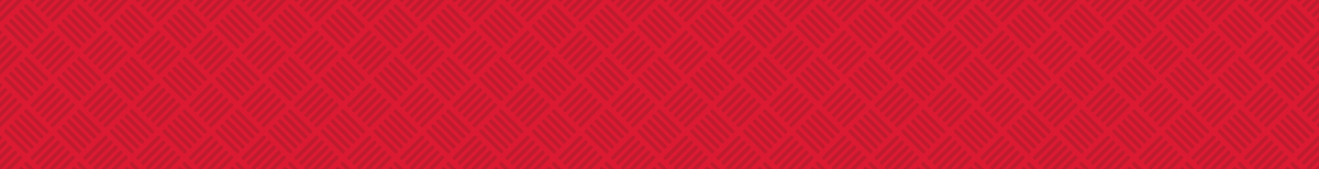 red background with hatch design overlay