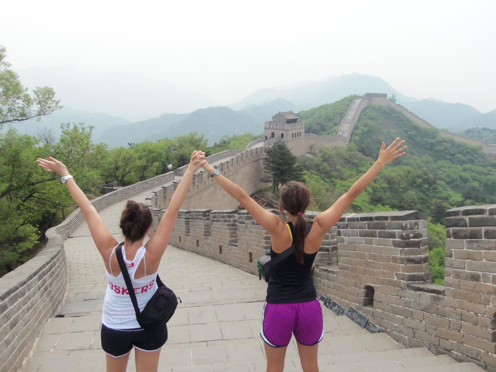 CASNR students at the Great Wall of China