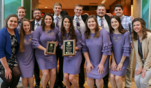 The 2019 Nebraska National Agri-Marketing Association poses with their second place plaques